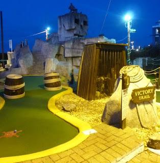 Photo of the Victory Trail minigolf course at Treasure Island Adventure Golf in Southsea