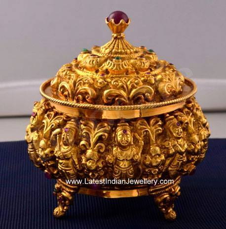 Nakshi Gold Kumkum Box