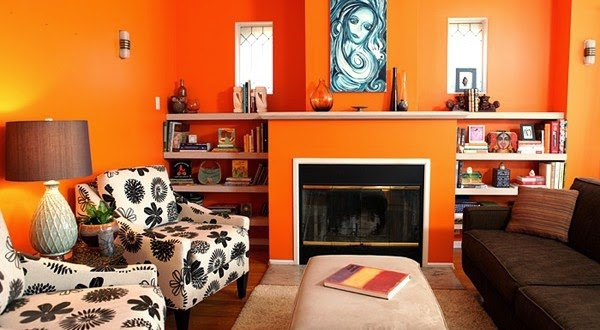 This Is 7 Orange Living Room Design Ideas And Color Cobinations