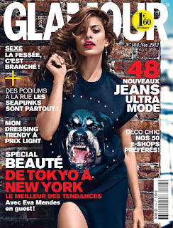 Eva Mendes graces the cover of  Glamour France November 2012 Issue
