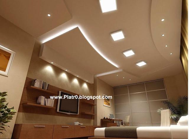 Decore de chambre avec placo platre for Faux plafond maison