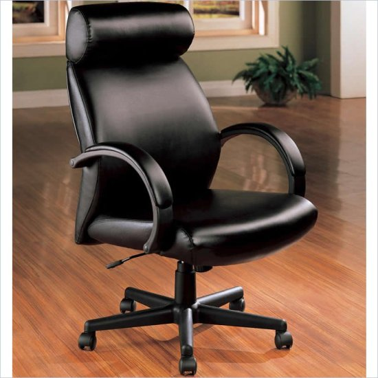 High Back Black Color Executive Leather Office Chair