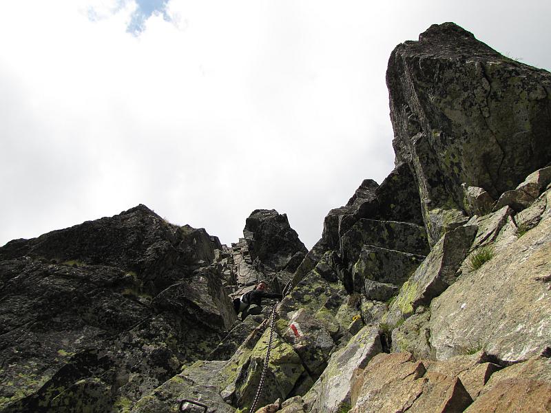Zejście z Kozich Czub na Kozią Przełęcz Wyżnią.
