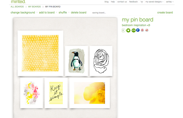 Minted pinboard inspiration
