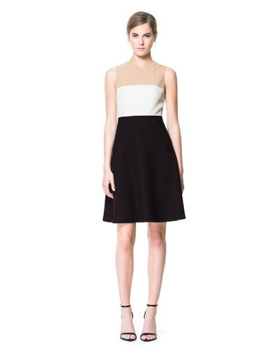 siyah pembe kısa elbise