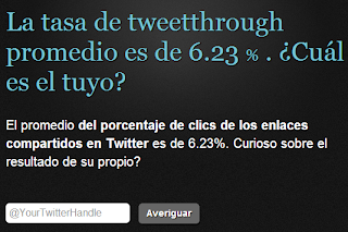 Tweetthrough herramienta cálculo métrica Twitter. Community Manager.