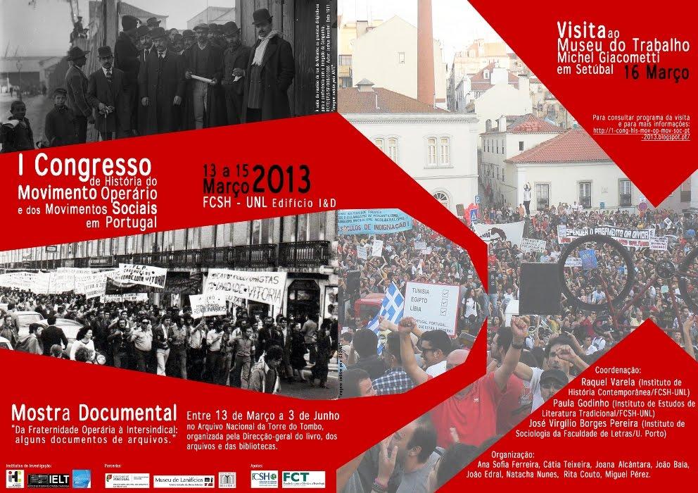 I Congresso de História do Movimento Operário e dos Movimentos Sociais em Portugal