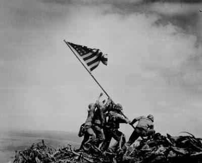 Rosenthal portrait of Iwo Jima flag raising
