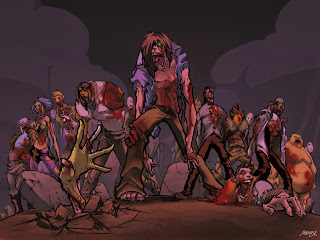 Zombies Dark Gothic Wallpaper