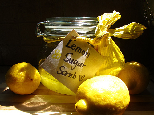 Lemon Scrub for glowing radiant skin