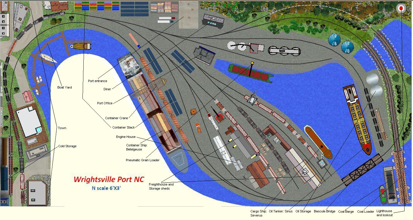 Wrightsville Port N Scale Waterfront Layout Plan