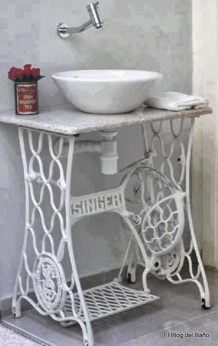 Muebles Para Baño S A De C V Gersa:esas antiguas máquinas de coser Singer , madera, hierro, patas de