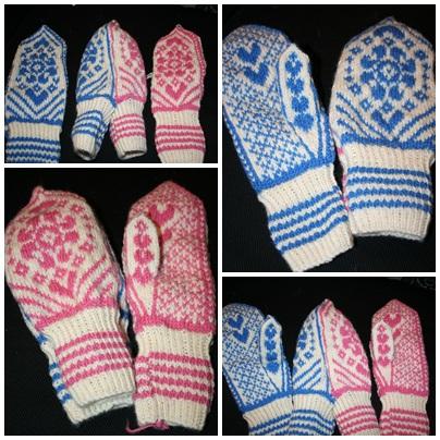kjærestevotter strikkeoppskrifter mønstre