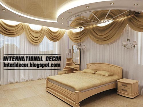 Modern pop false ceiling designs for bedroom interior for Bedroom gypsum ceiling designs photos