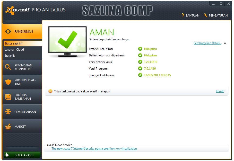 Avast pro antivirus 7 license file till 2050