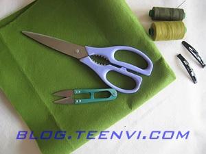 Dụng cụ vật liệu làm kẹp tóc xinh hình chiếc lá - blog.teenvi.com