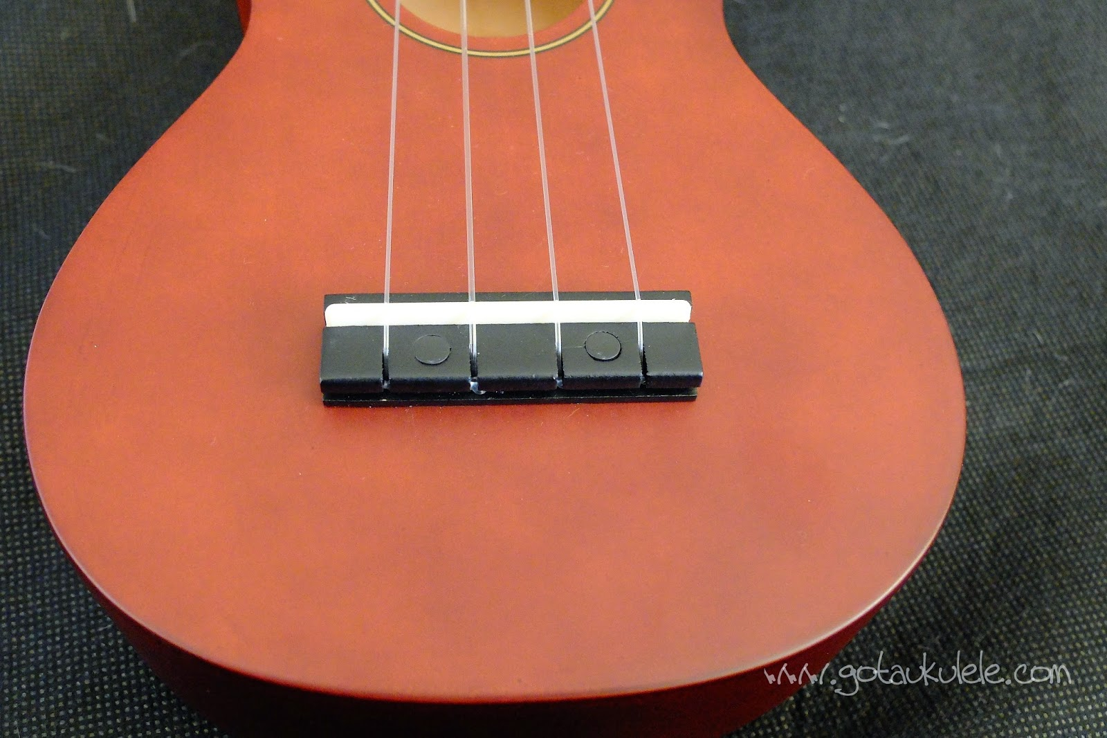 Stagg US10 Soprano Ukulele bridge