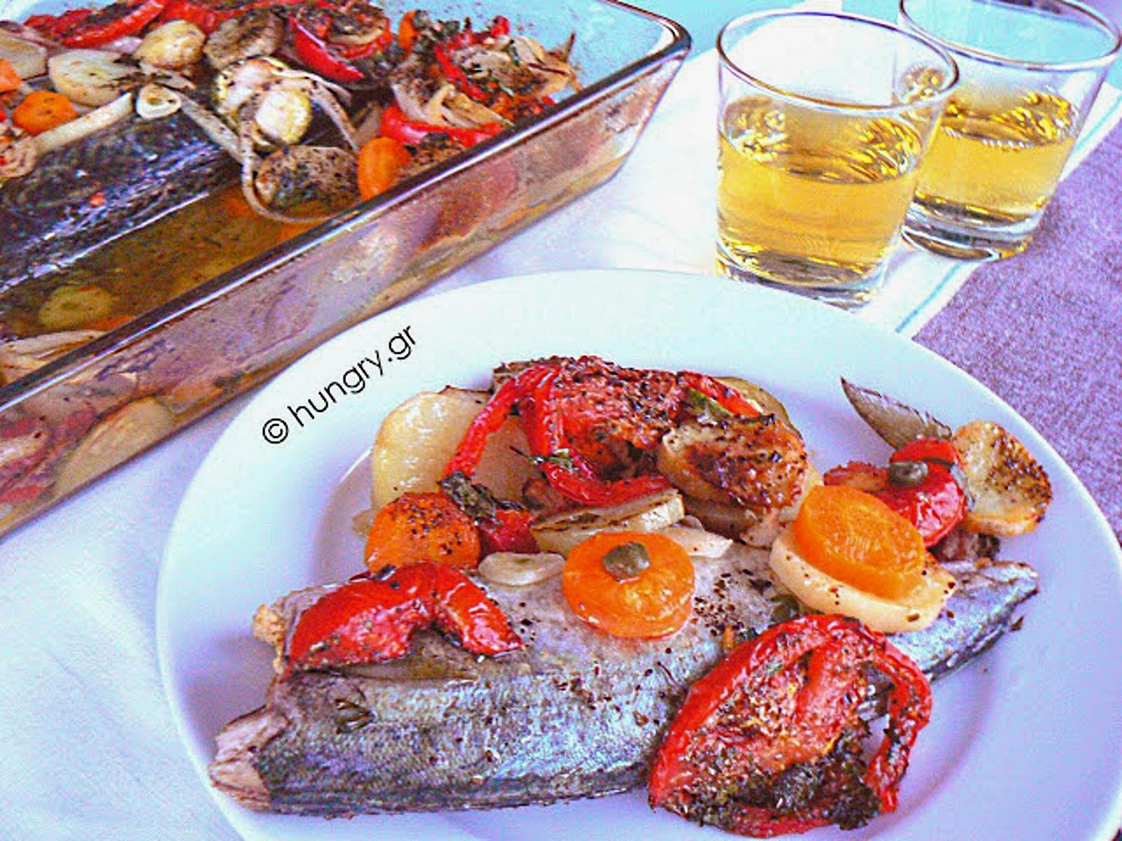 Oven Baked Mackerel with Vegetables