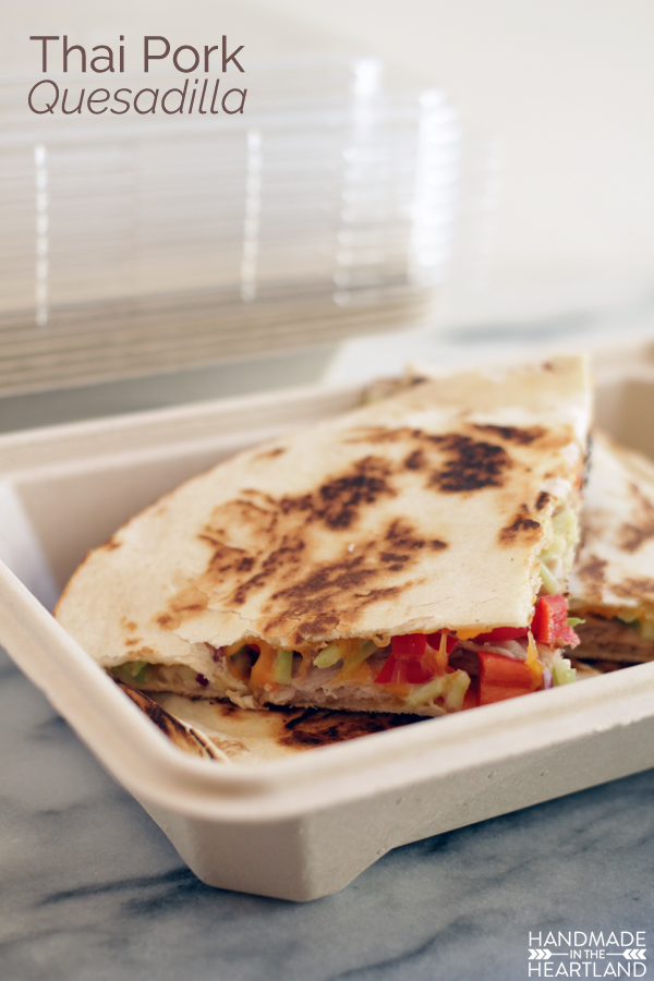 Leftover Pulled Pork turned into Thai Pork Quesadillas  #HeatAndEat