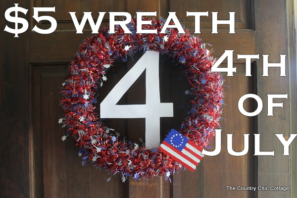 Wreath for the 4th of July - * THE COUNTRY CHIC COTTAGE (DIY, Home