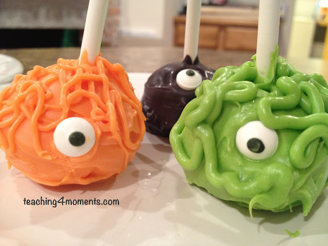 3 Colors of Monster Cake Pops