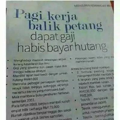 Hakikat situasi hari ini di kalangan Rakyat Malaysia