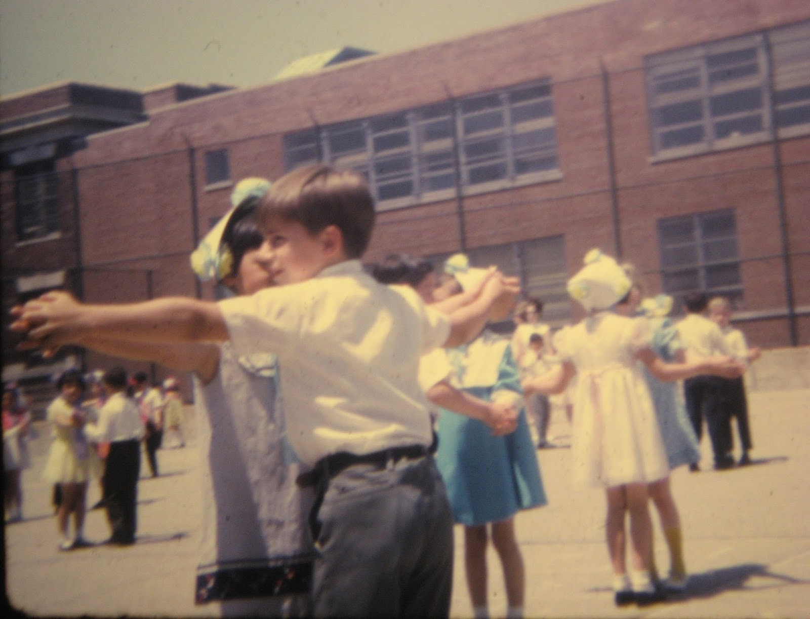 Tommy Mondello at age 7 square dance PS22 June 1968