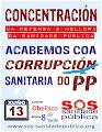 Concentración en defensa da sanidade pública na Coruña
