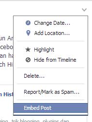 embed post facebook