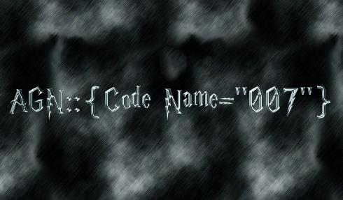 """AGN::{Code Name=""""007""""}"""