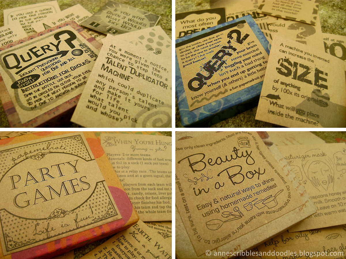Papemelroti Paper Packs: Party Games, Query, Personal Time, Beauty in a Box