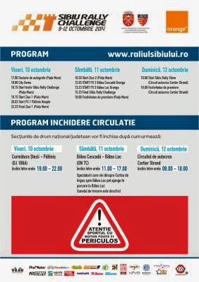 Program si restrictii de trafic la Sibiu Rally Challenge
