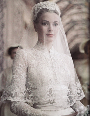 kate middleton and grace kelly wedding dress. kate middleton sheer dress