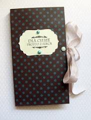 kartka z miejscem na czekolade ;)