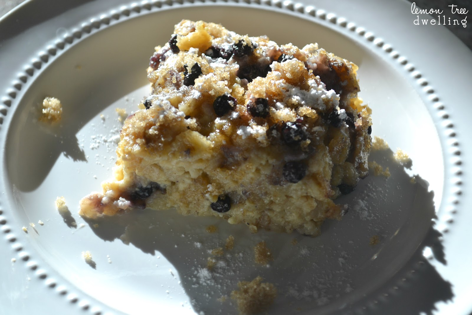 Baked Blueberry Oatmeal | Lemon Tree Dwelling