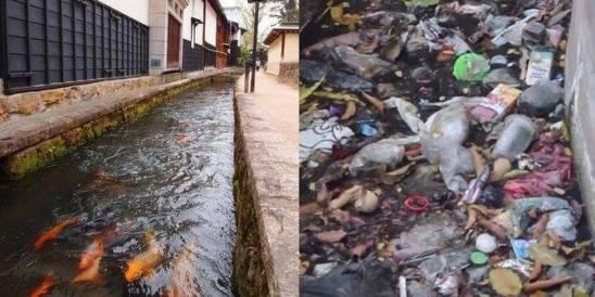 selokan jepang vs selokan indonesia..