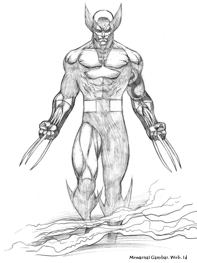 gambar Wolverine untuk diwarnai . Untuk dapat mewarnai gambar ...