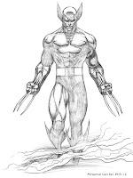 Gambar Kartun Wolverine Untuk Diwarnai