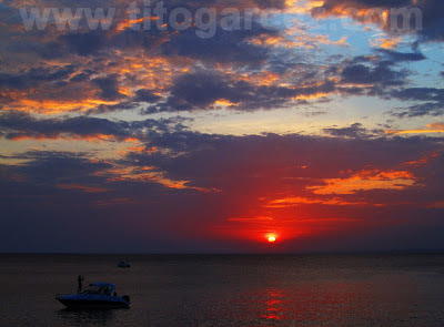 Pôr-do-Sol na baía de Todos-os-Santos, em Salvador