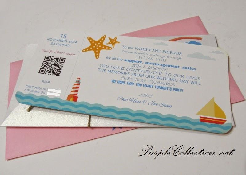 langkawi wedding, starfish, boarding pass, invitation, beach, ferry, aeroplane, sea, tiffany blue, print envelope, malaysia, kuala lumpur, selangor, modern, bespoke, personalised, personalized, handmade, hand craft, unique, special, singapore, australia, penang, melaka, johor, perak, ipoh, pahang, bentong, kuantan, online order