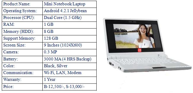 Mini Notebook/Laptop