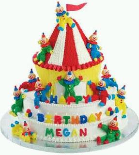 Cake De Circo De Crema