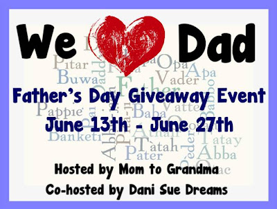 Enter to win the We Love Dad Giveaway with $225 in prizes, ends 6/27