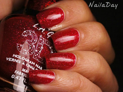 NailaDay: L.A. Girls 3D Effects Sparkle Ruby