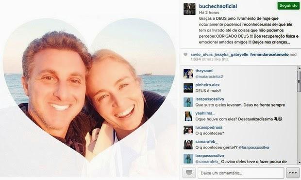 famosos mandam mensagens para Huck e Angélica