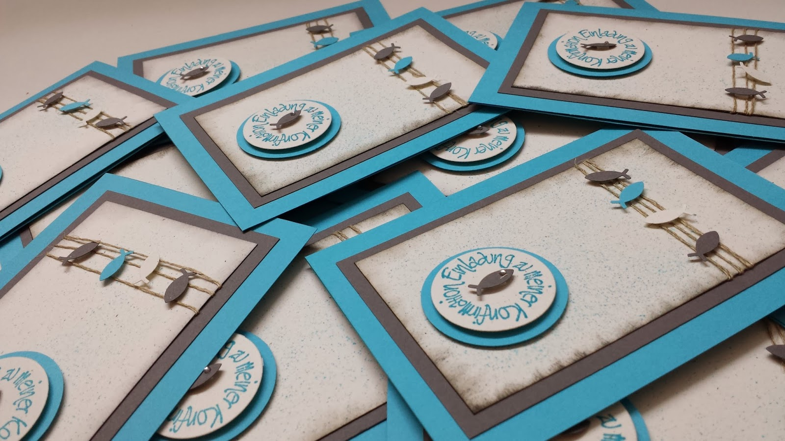 stampin with vicky auftragsarbeit einladungen zur konfirmation. Black Bedroom Furniture Sets. Home Design Ideas
