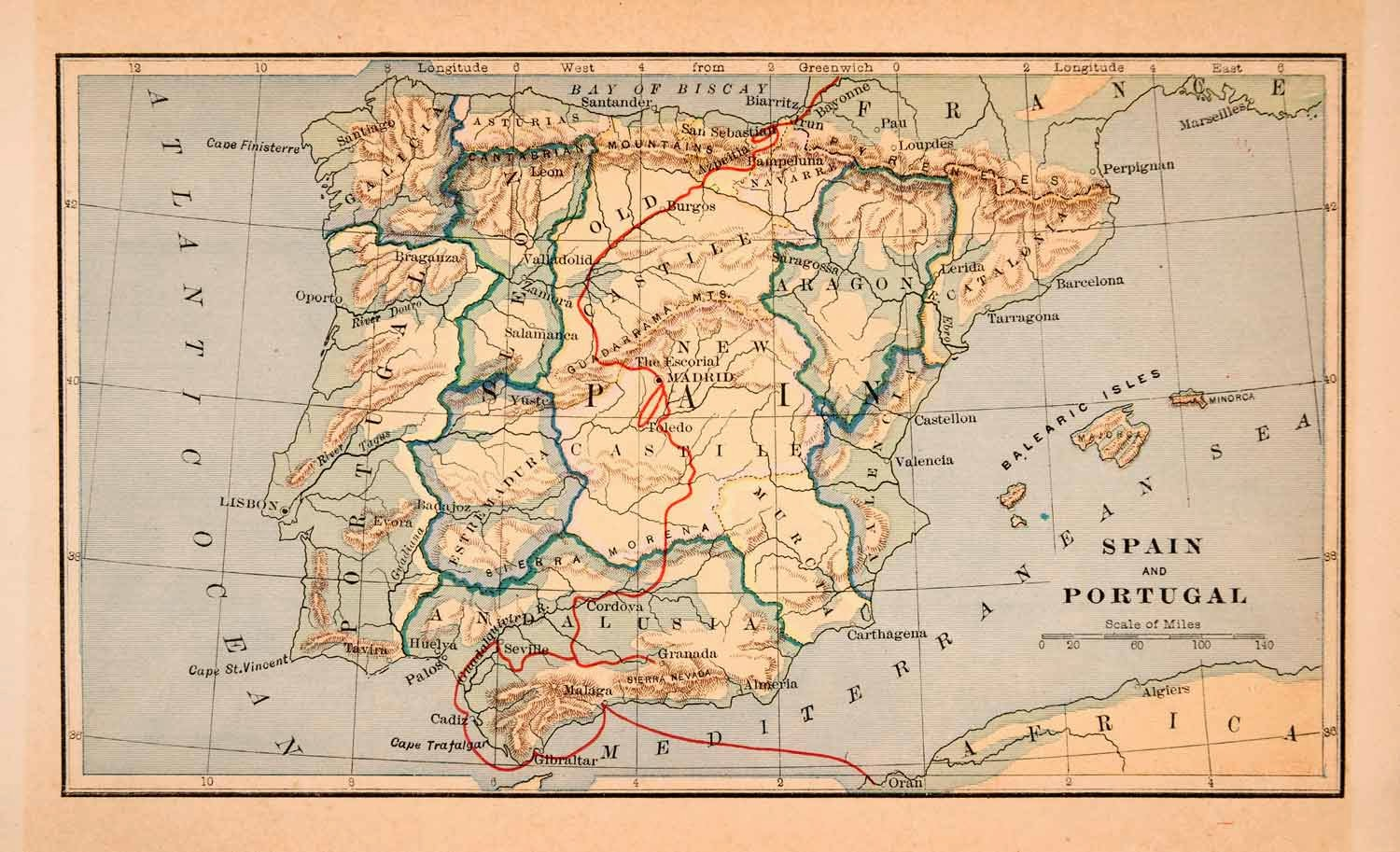 Spain and Portugal 1896