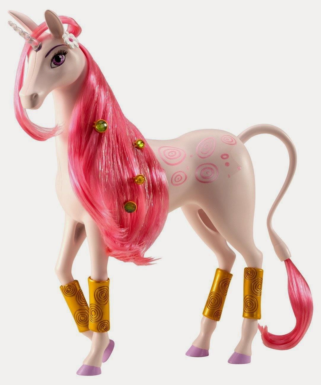 TOYS - Muñeco Unicornio Lyria : Mia and Me  Juguete oficial | Mattel BFW39 | A partir de 3 años   (Muñeca Mia no incluida)