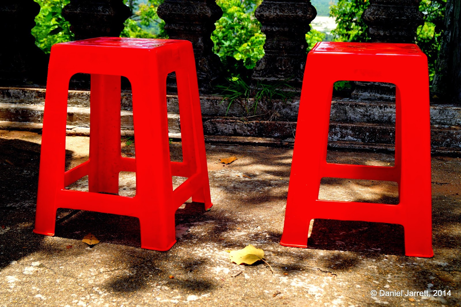 Red Chairs, Phnom Oudong, Cambodia