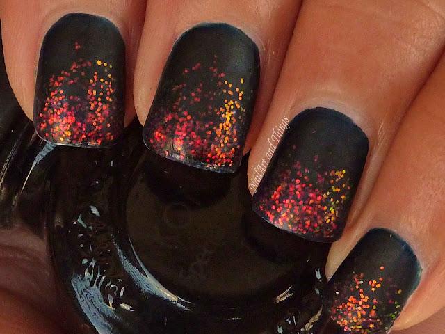 NailArt and Things: Mattened Glitter Nails